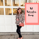 plaid peplum blouse and black jeans